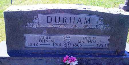DURHAM, JOHN M - Baxter County, Arkansas | JOHN M DURHAM - Arkansas Gravestone Photos