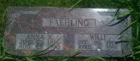FAEHLING, ANNA K. - Baxter County, Arkansas | ANNA K. FAEHLING - Arkansas Gravestone Photos
