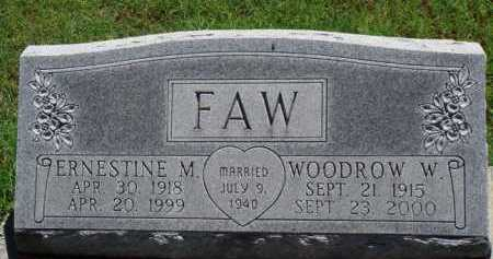 FAW, WOODROW W. - Baxter County, Arkansas | WOODROW W. FAW - Arkansas Gravestone Photos