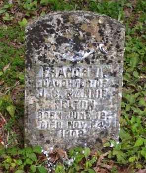FELTON, FRANCS I. - Baxter County, Arkansas | FRANCS I. FELTON - Arkansas Gravestone Photos