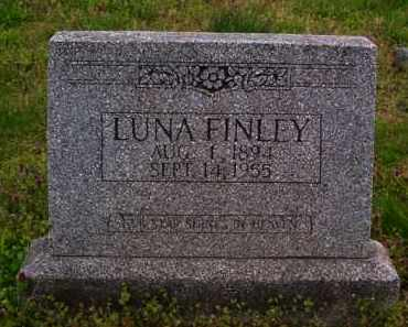 FINLEY, LUNA - Baxter County, Arkansas | LUNA FINLEY - Arkansas Gravestone Photos