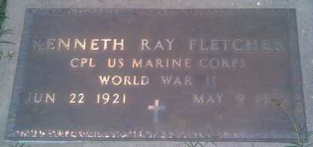 FLETCHER  (VETERAN WWII), KENNETH RAY - Baxter County, Arkansas | KENNETH RAY FLETCHER  (VETERAN WWII) - Arkansas Gravestone Photos