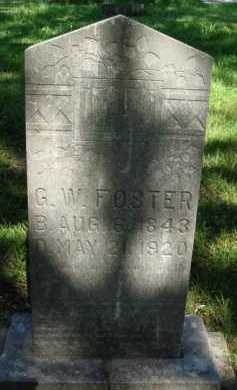 FOSTER (VETERAN CSA), GEORGE W - Baxter County, Arkansas | GEORGE W FOSTER (VETERAN CSA) - Arkansas Gravestone Photos
