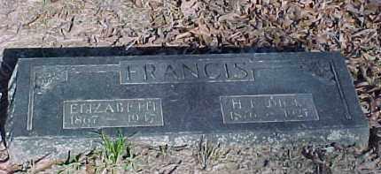 ABERSOLD FRANCIS, ELIZABETH - Baxter County, Arkansas | ELIZABETH ABERSOLD FRANCIS - Arkansas Gravestone Photos