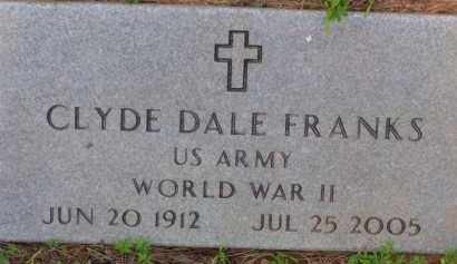 FRANKS (VETERAN WWII), CLYDE DALE - Baxter County, Arkansas | CLYDE DALE FRANKS (VETERAN WWII) - Arkansas Gravestone Photos