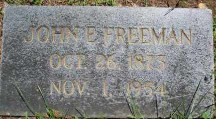 FREEMAN, JOHN E. - Baxter County, Arkansas | JOHN E. FREEMAN - Arkansas Gravestone Photos