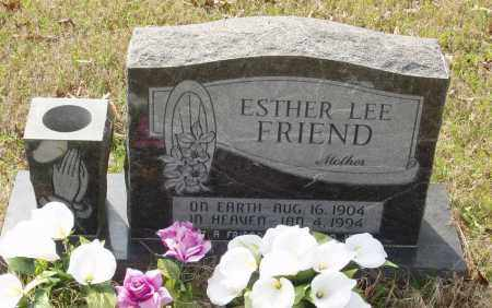 FRIEND, ESTHER LEE - Baxter County, Arkansas | ESTHER LEE FRIEND - Arkansas Gravestone Photos