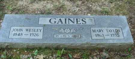 GAINES, JOHN WESLEY - Baxter County, Arkansas | JOHN WESLEY GAINES - Arkansas Gravestone Photos