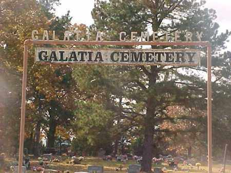 *, GALATIA CEMETERY SIGN - Baxter County, Arkansas | GALATIA CEMETERY SIGN * - Arkansas Gravestone Photos