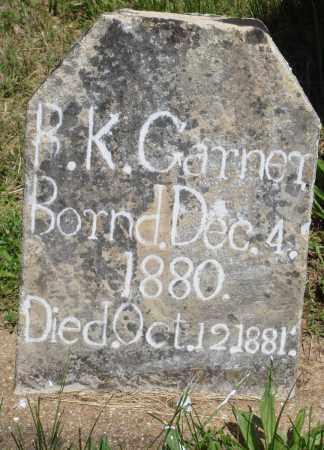 GARNER, B K - Baxter County, Arkansas | B K GARNER - Arkansas Gravestone Photos