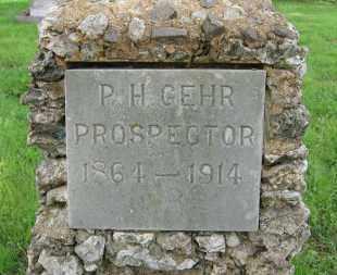 GEHR, P. H. - Baxter County, Arkansas | P. H. GEHR - Arkansas Gravestone Photos