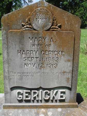 GERICKE, MARY A. - Baxter County, Arkansas | MARY A. GERICKE - Arkansas Gravestone Photos