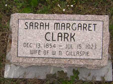 CLARK GILLASPIE, SARAH MARGARET - Baxter County, Arkansas | SARAH MARGARET CLARK GILLASPIE - Arkansas Gravestone Photos