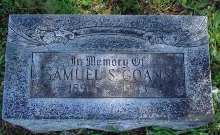 GOANS, SAMUEL S. - Baxter County, Arkansas | SAMUEL S. GOANS - Arkansas Gravestone Photos
