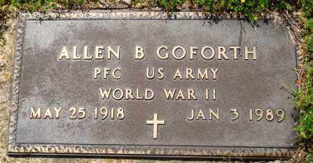 GOFORTH (VETERAN WWII), ALLEN B - Baxter County, Arkansas | ALLEN B GOFORTH (VETERAN WWII) - Arkansas Gravestone Photos