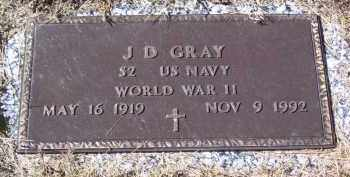 GRAY (VETERAN WWII), J D - Baxter County, Arkansas | J D GRAY (VETERAN WWII) - Arkansas Gravestone Photos
