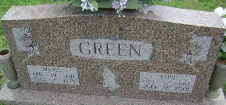 GREEN, MAXIE - Baxter County, Arkansas | MAXIE GREEN - Arkansas Gravestone Photos