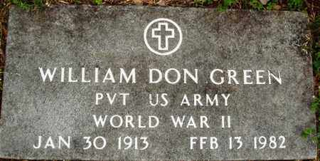 GREEN (VETERAN WWII), WILLIAM DON - Baxter County, Arkansas | WILLIAM DON GREEN (VETERAN WWII) - Arkansas Gravestone Photos