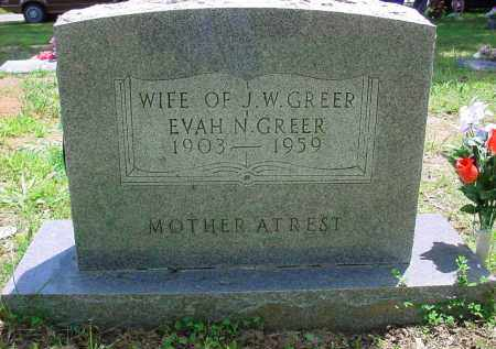 ACKLIN GREER, EVAH N. - Baxter County, Arkansas | EVAH N. ACKLIN GREER - Arkansas Gravestone Photos