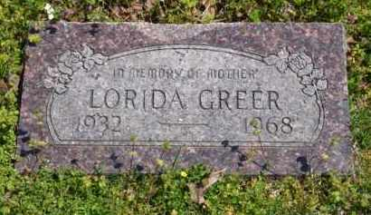 WEATHERFORD GREER, LORIDA - Baxter County, Arkansas | LORIDA WEATHERFORD GREER - Arkansas Gravestone Photos