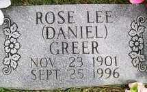 DANIEL GREER, ROSE LEE - Baxter County, Arkansas | ROSE LEE DANIEL GREER - Arkansas Gravestone Photos