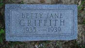 GRIFFITH, BETTY JANE - Baxter County, Arkansas | BETTY JANE GRIFFITH - Arkansas Gravestone Photos