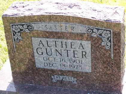 GUNTER, AUDRA ALTHEA - Baxter County, Arkansas | AUDRA ALTHEA GUNTER - Arkansas Gravestone Photos