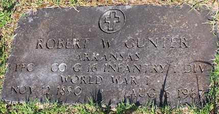 GUNTER  (VETERAN WWI), ROBERT W - Baxter County, Arkansas | ROBERT W GUNTER  (VETERAN WWI) - Arkansas Gravestone Photos