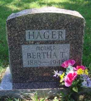 HAGER, BERTHA T. - Baxter County, Arkansas | BERTHA T. HAGER - Arkansas Gravestone Photos