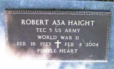 HAIGHT (VETERAN WWII), ROBERT ASA - Baxter County, Arkansas   ROBERT ASA HAIGHT (VETERAN WWII) - Arkansas Gravestone Photos