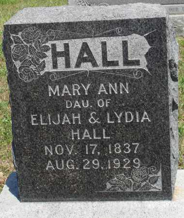HALL, MARY ANN - Baxter County, Arkansas | MARY ANN HALL - Arkansas Gravestone Photos