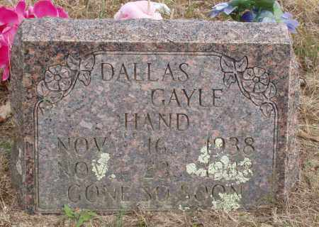 HAND, DALLAS GAYLE - Baxter County, Arkansas | DALLAS GAYLE HAND - Arkansas Gravestone Photos