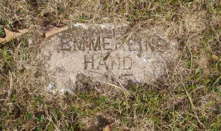 HAND, EMMERLINE - Baxter County, Arkansas | EMMERLINE HAND - Arkansas Gravestone Photos