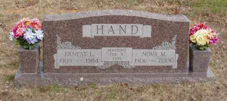 HAND, ERNEST L - Baxter County, Arkansas | ERNEST L HAND - Arkansas Gravestone Photos