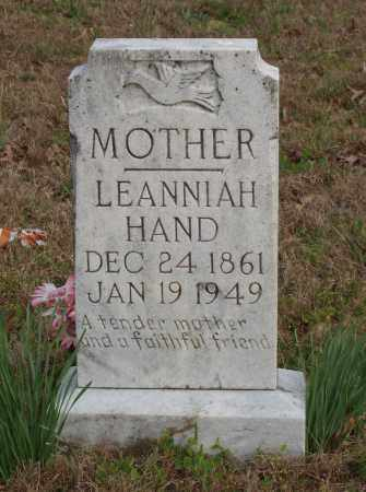 HAND, LEANNIAH - Baxter County, Arkansas | LEANNIAH HAND - Arkansas Gravestone Photos