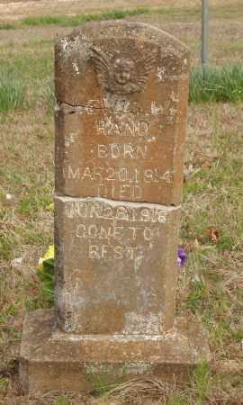 HAND, LEWIS W - Baxter County, Arkansas | LEWIS W HAND - Arkansas Gravestone Photos