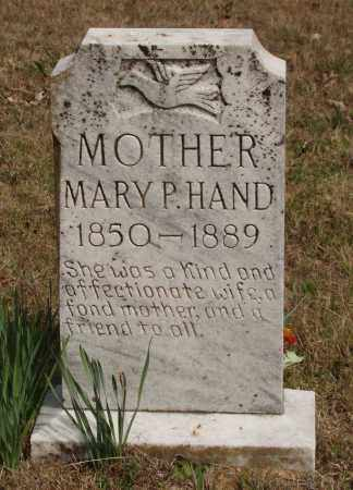 HAND, MARY P - Baxter County, Arkansas | MARY P HAND - Arkansas Gravestone Photos
