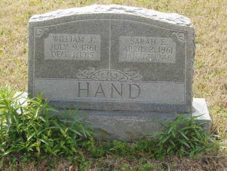 HAND, SARAH E - Baxter County, Arkansas | SARAH E HAND - Arkansas Gravestone Photos