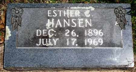 HANSEN, ESTHER G - Baxter County, Arkansas | ESTHER G HANSEN - Arkansas Gravestone Photos
