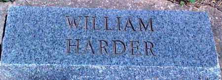 HARDER, WILLIAM - Baxter County, Arkansas | WILLIAM HARDER - Arkansas Gravestone Photos