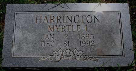 HARRINGTON, MYRTLE I. - Baxter County, Arkansas | MYRTLE I. HARRINGTON - Arkansas Gravestone Photos
