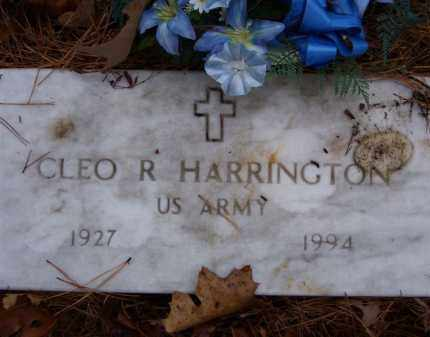 HARRINGTON (VETERAN KOR), CLEO R (OBIT) - Baxter County, Arkansas | CLEO R (OBIT) HARRINGTON (VETERAN KOR) - Arkansas Gravestone Photos