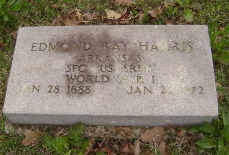 HARRIS (VETERAN WWI), EDMOND RAY - Baxter County, Arkansas | EDMOND RAY HARRIS (VETERAN WWI) - Arkansas Gravestone Photos