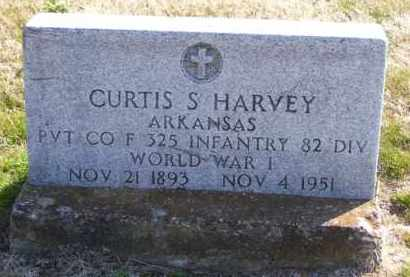 HARVEY (VETERAN WWI), CURTIS S - Baxter County, Arkansas | CURTIS S HARVEY (VETERAN WWI) - Arkansas Gravestone Photos