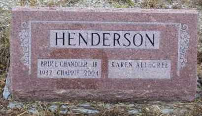 "HENDERSON, JR (VETERAN 2 WARS), BRUCE CHANDLER ""CHAPPIE"" - Baxter County, Arkansas 