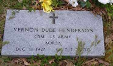 HENDERSON (VETERAN KOR), VERNON 'DUDE' - Baxter County, Arkansas | VERNON 'DUDE' HENDERSON (VETERAN KOR) - Arkansas Gravestone Photos