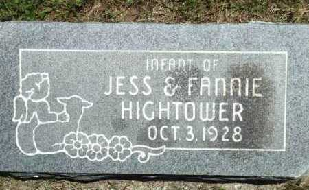 HIGHTOWER, INFANT - Baxter County, Arkansas | INFANT HIGHTOWER - Arkansas Gravestone Photos