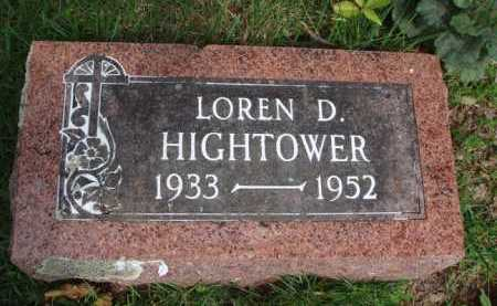 HIGHTOWER, LOREN D. - Baxter County, Arkansas | LOREN D. HIGHTOWER - Arkansas Gravestone Photos