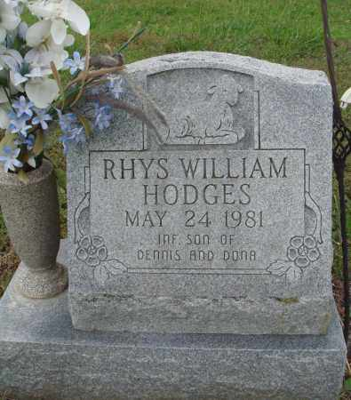HODGES, RHYS WILLIAM - Baxter County, Arkansas | RHYS WILLIAM HODGES - Arkansas Gravestone Photos