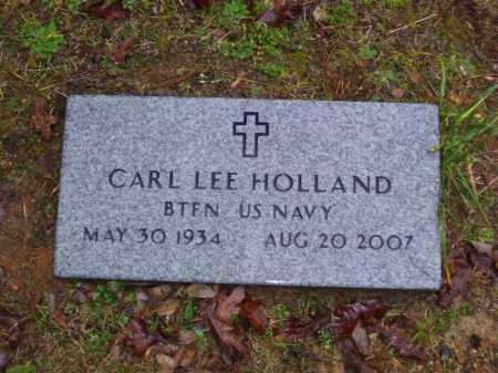 HOLLAND (VETERAN), CARL LEE - Baxter County, Arkansas | CARL LEE HOLLAND (VETERAN) - Arkansas Gravestone Photos